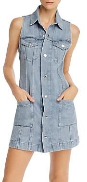 Helmut Lang Sleeveless Denim Mini Dress