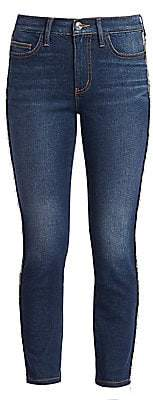 Current/Elliott Women's Chain-Trim Skinny Jeans