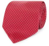 Osborne Red Texture Spotted Print Tie