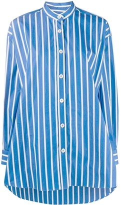 Odeeh Striped Long Cotton Shirt