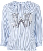 J.W.Anderson logo print striped shirt