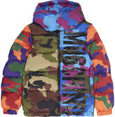 Moschino Multi-coloured camouflage print puffa jacket 4-14 years