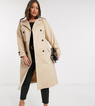 Vero Moda Curve classic trench coat in beige