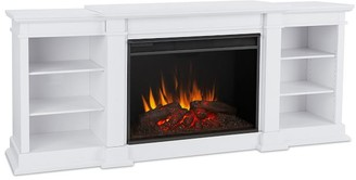 """Pottery Barn Real Flame 81.25"""" Eliot Grand Electric Fireplace Media Cabinet"""