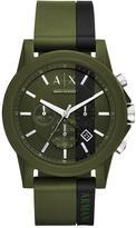 Armani Exchange Armani Exchange Outerbanks Green Silicone Strap Men's Watch
