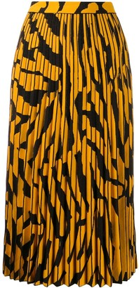 Proenza Schouler Pleated Printed Skirt