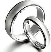 Gemini Groom & Bride Two Tone Black & Silver Matt & Polish Wedding Bands Matching Titanium Rings Set 6mm & 4mm Width Men Ring Size : 8.5 Women Ring Size : 8 Valentine's Day Gifts