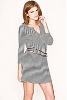 Joie January Belted Dress in Deep Sea Stripes