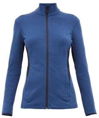 Aztech Mountain Bonnies Rubberised-logo Zip-through Sweater - Womens - Blue