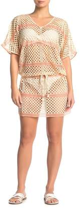 Pilyq Jasmine Fishnet Tunic Cover-Up