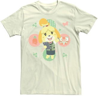 Isa Belle Men's Animal Crossing Isabelle Character Portrait Tee