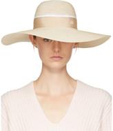 Maison Michel Beige Straw Blanche Hat