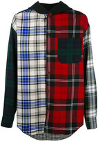 Alexander Wang multi check hooded shirt - men - Cotton/Polyester/Wool - 46