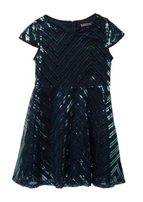 Trixxi Chevron Sequin Dress (Big Girls)