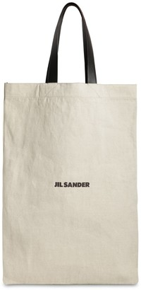 Jil Sander Maxi Flat Canvas Tote Bag