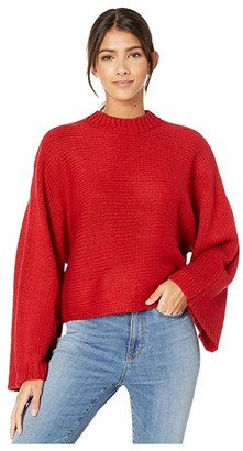 BB Dakota Neck Yourself Sweater (Apple Red) Women's Clothing