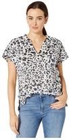 Tommy Bahama Desert Cat Short Sleeve Top (Black) Women's Clothing