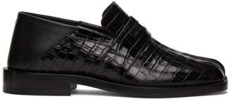 Maison Margiela Black Croc Tabi Loafers