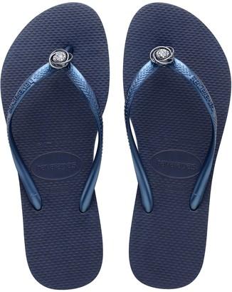 Havaianas Slim Crystal Rings Rubber Flip-Flops