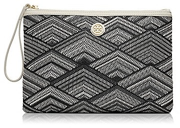 Tory Burch Patterned Woven Pouch