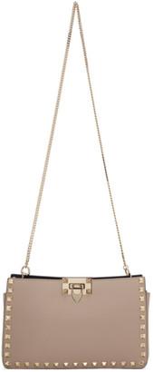 Valentino Pink Garavani Small Rockstud Clutch Bag
