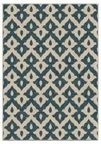 Orian Rugs Family Crest Promise Indoor/Outdoor Area Rug - Blue