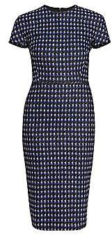 Victoria Beckham Women's Fitted Houndstooth T-Shirt Dress