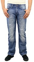 Buffalo David Bitton Men's Six Slim Straight Denim Leg Jean In Patched