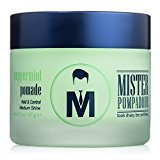 Pompadour Mister Peppermint Pomade - Best Hair Styling Product for Men (and Women) - 2oz - Medium Hold & High Shine - Water Based - All Natural Ingredients - Best Pomade - Perfect for Pompadours, Side Parts & Combed Hairstyles