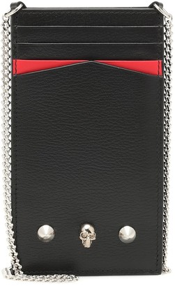 Alexander McQueen Embellished leather iPhone case
