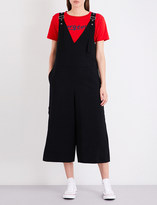 Izzue Wide-leg twill dungarees