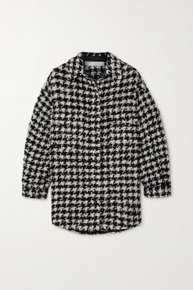 IRO Restrain Houndstooth Tweed Shirt - Black