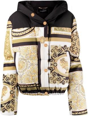 Versace Printed Puffer Jacket
