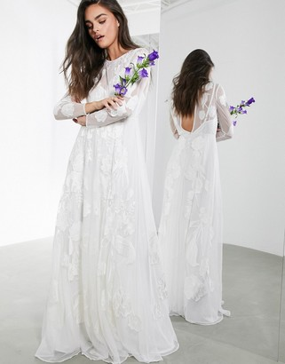 ASOS EDITION Olivia floral embroidered maxi wedding dress
