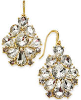 Charter Club Gold-Tone Dramatic Crystal Earrings, Created by Macy's