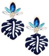 Natasha Women's Leaf Drop Earrings