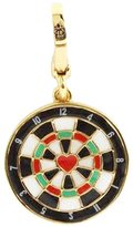 Juicy Couture Dartboard Charm - Heart Bullseye Center