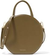 Mansur Gavriel Circle Leather Shoulder Bag - Army green