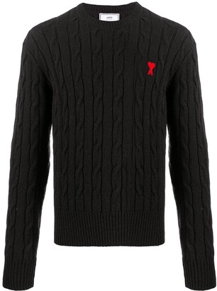Ami Cable Stitch Crewneck Jumper