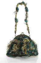 Mary Frances Multi-Colored Beaded Jeweled Design Bow Detail Shoulder Handbag