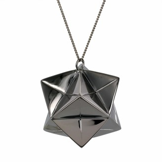 Origami Jewellery Large Magic Ball Necklace Gun Metal