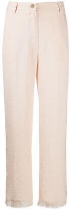 Nanushka Theo frayed straight-leg trousers