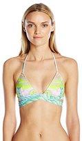Mara Hoffman Women's Flora Wrap Around Triangle Bikini Top