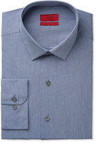 Alfani Men's Fitted Performance Indigo Blue Hairline-Stripe Dress Shirt, Only at Macy's