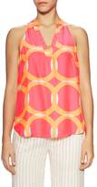 Alice & Trixie Rory Silk Printed Racerback Top
