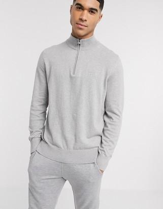 Barbour Tain half zip knit in grey