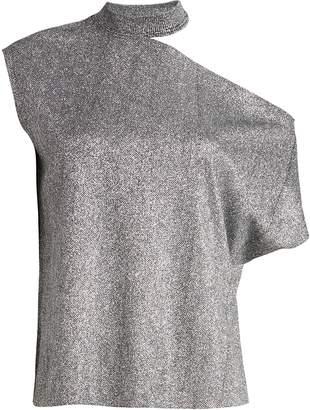 RtA Axel Metallic Cut-Out T-Shirt