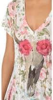 Wildfox Couture Desert Rose V Neck Tee