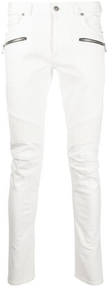 Balmain Slim-Fit Panelled Jeans