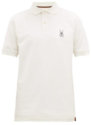 Paul Smith Beetle-embroidered Cotton-pique Polo Shirt - Mens - White